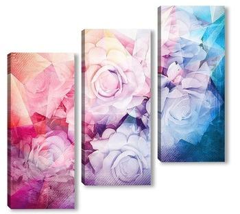 Модульная картина Прекрасные розы