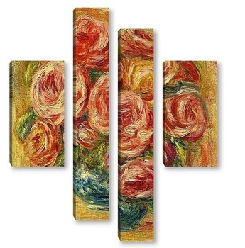 Модульная картина Ваза с розами