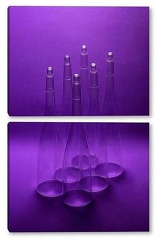 Модульная картина Deep Purple. Тёмно-фиолетовый
