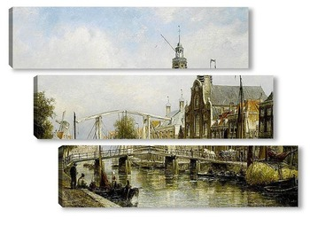 Модульная картина Вид Амстердама