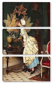 Модульная картина Поцелуй для Размышлений