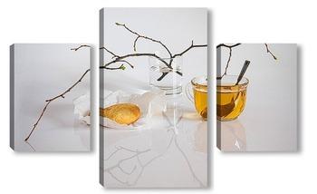 Модульная картина У чая аромат весны