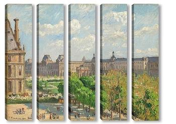 Модульная картина Площадь Карусели, Париж, 1900