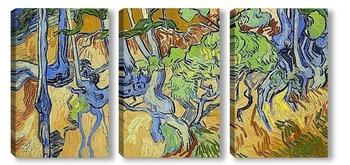 Модульная картина Корни деревьев и стволы, 1890