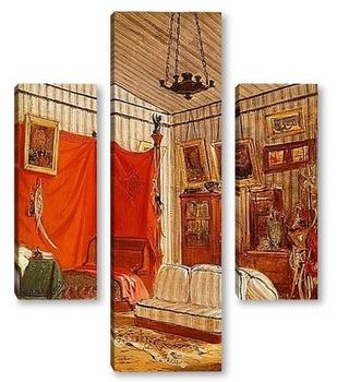 Модульная картина Спальня графа де Морне
