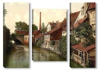 Модульная картина  Хильдесхайм, Ганновер, Германия.1890-1990 гг