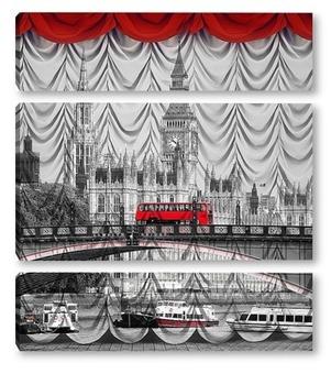 Модульная картина Лондон. Биг Бен