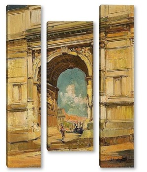 Модульная картина Триумфальная арка и Колизей