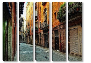 Модульная картина Улочки Барселоны