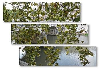 Модульная картина Мост Святого Ангела