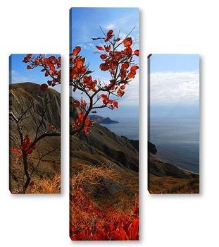 Модульная картина японский мотив Крымских гор