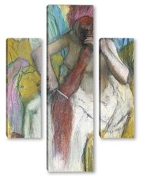 Модульная картина Женщина, расчесывает волосы