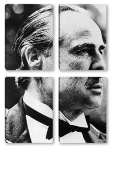 """Модульная картина Марлон Брандо в фильме""""Крёстный отец"""",1972г."""
