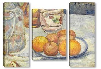 Модульная картина Натюрморт с яблоками