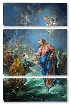 Модульная картина Святой Пётр, приглашённый ходить по воде