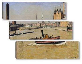 Модульная картина Порт Гамбург
