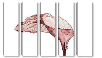 Модульная картина Прозрачная калла