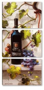 Модульная картина Вино