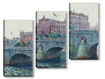 Модульная картина Здание парламента, Стокгольм