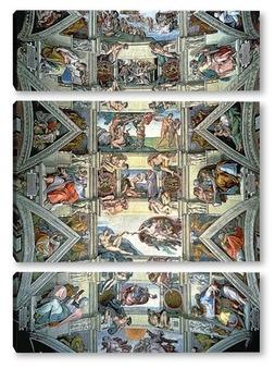 Модульная картина Сикстинская капелла