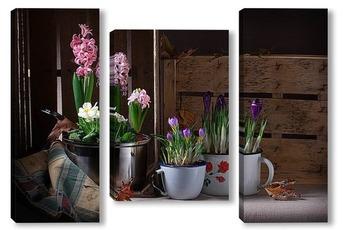 Модульная картина Маленькая весна