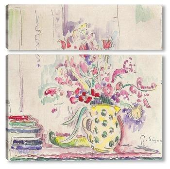 Модульная картина Цветы натюрморт