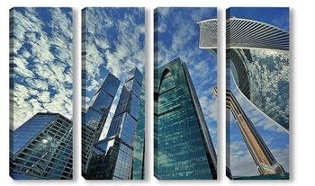 Модульная картина Небо в небоскребах 10