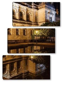 Модульная картина Ночное отражение