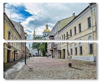 Модульная картина Улица в Витебске