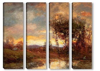 Модульная картина Закат пейзаж