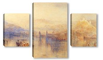 Модульная картина Люцерна из озера