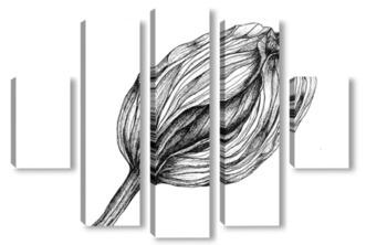 Модульная картина Тюльпан