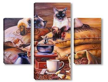 Модульная картина Хранители кофе