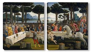 Модульная картина История Настаджио дельи Онести (III)