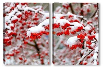 Модульная картина Первый снег