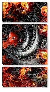 Модульная картина Лестница. Спираль.
