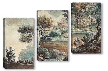 Модульная картина Итальянский пейзаж