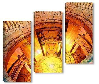 Модульная картина Архитектурные элементы. Вид сверху