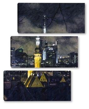 Модульная картина Ночной Таллин 2