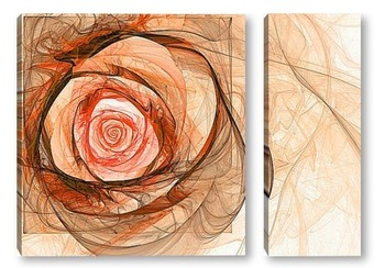 Модульная картина Цветок розы