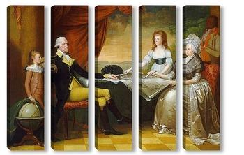 Модульная картина Семья Вашингтона