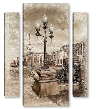 Модульная картина Екатеринбург, вид на Администрацию города