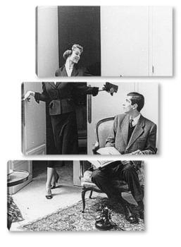 Модульная картина Бриджит Бордо с Роже Вадим.1952г.