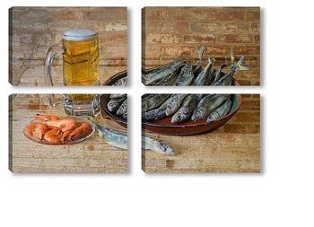 Модульная картина Для любителей пива