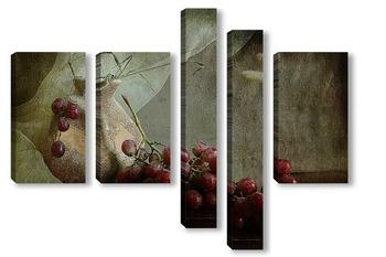 Модульная картина Виноградный