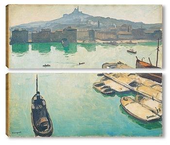 Модульная картина Порт Марселя