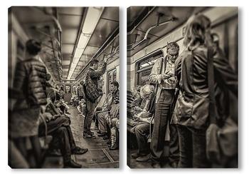 Модульная картина В метро #1