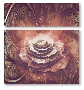 Модульная картина Распустившийся цветок