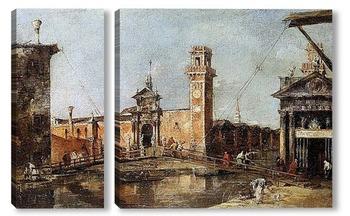 Модульная картина Вход в арсенал города Венеции