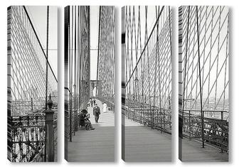 Модульная картина Манхэттен и Бруклинский мост, 1907
